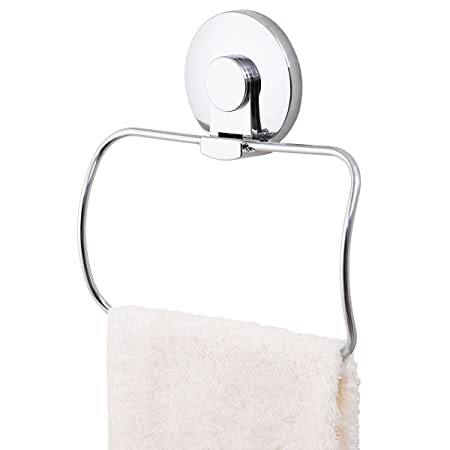 TAILI Vacuum Suction Cup Towel Ring Holder Hanger Chromed Stainless ...