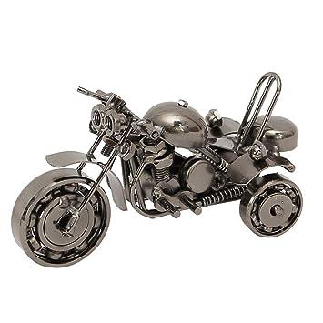 YJIUJIU Modelo de Motocicleta de Tres Ruedas de Hierro, Muebles de Escritorio de Oficina de Moda Retro Decoraciones para el hogar,B: Amazon.es: Hogar