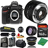 Great Value Bundle for D810 DSLR – 50MM 1.8D + 16GB Memory + Wide Angle + Telephoto Lens + Case
