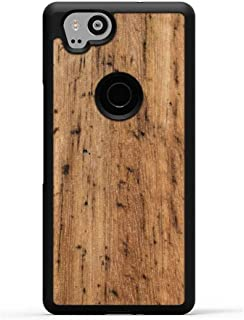 product image for Carved - Google Pixel 2 - Luxury Protective Traveler Case - Unique Real Wooden Phone Cover - Rubber Bumper - Eucalyptus