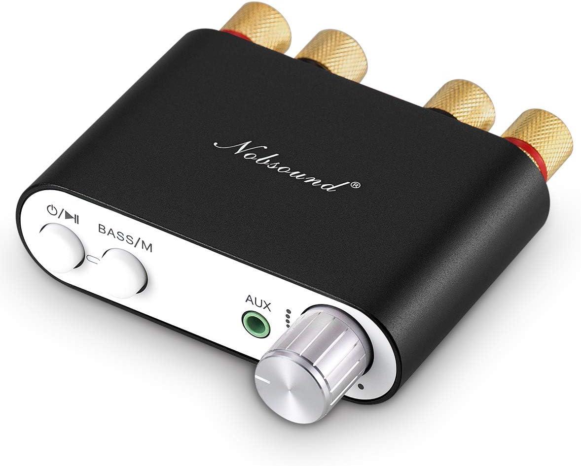 Nobsound NS-10G - Amplificador digital HiFi de 100 W con fuente de alimentación, Bluetooth, negro