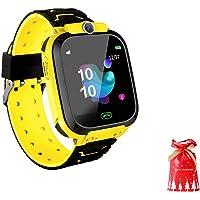 SmartWatch Niños con Localizador GPS De Los Niños contra La Pérdida Inteligente Muñequera Impermeable Cámara De Posicionamiento Remoto Smart Call Reloj para Android iOS, Versión Inglesa