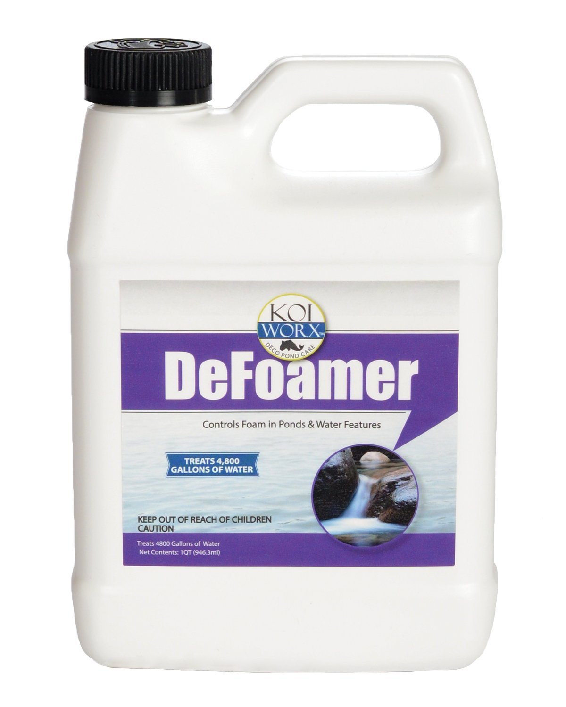 Koi Worx Defoamer - 32oz- Removes Foam from Decorative and Ornamental Ponds, Safe for Koi