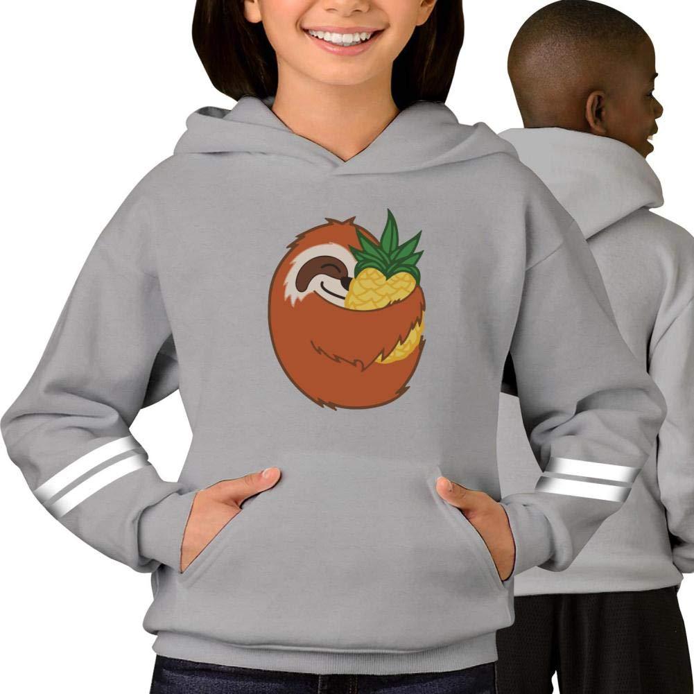 Youth Hoodie Pineapple Sloth Pullover Sweatshirt