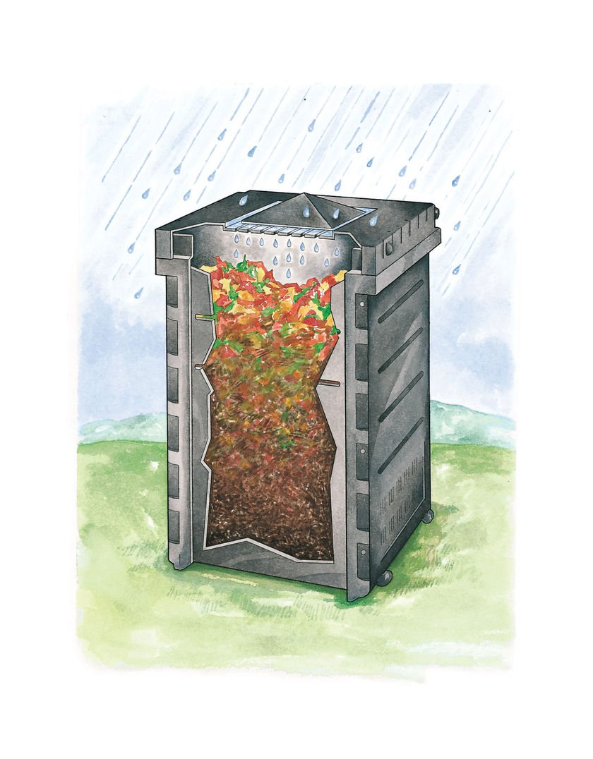 Deluxe Pyramid Composter, Recycled Plastic Composter by Gardener's Supply Company (Image #1)