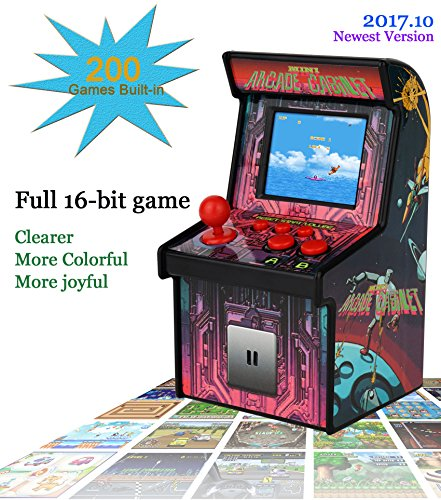 MINI ARCADE GAMES Retro Tiny Video Game Arcade Cabinet for Kids Portable Electronic Handheld Gaming Console with 200 Classic Games Cheap and Easy for - Video Real Game
