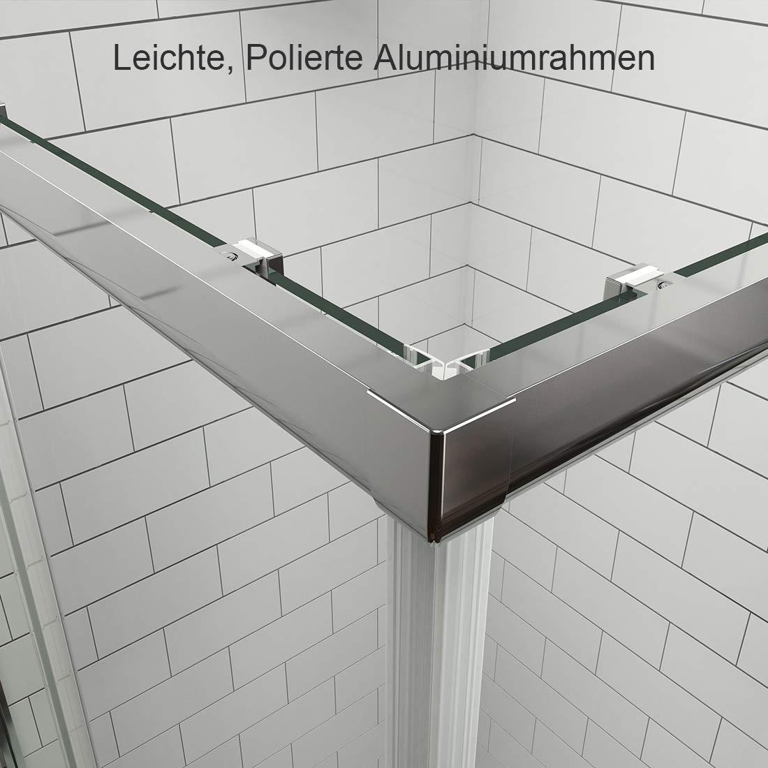 Duschkabine 70x70x185cm Eckeinstieg Duschabtrennung 6mm ESG Glas Schiebet/ür Duscht/ür