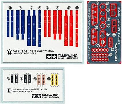 Revell Kyosho Harness Seat Belt Set for Tamiya Protar 1//12 black belt colour