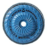 Mercer Industries 332T060 High Density Type 29, 4-1/2''x 5/8''-11 Grit 60 Zirconia Flap Disc Trimmable (10 Pack)