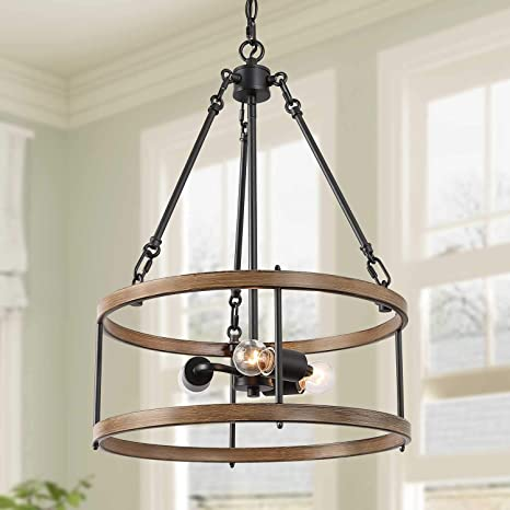 Isuraul Farmhouse Chandelier Drum Chandelier For Dining
