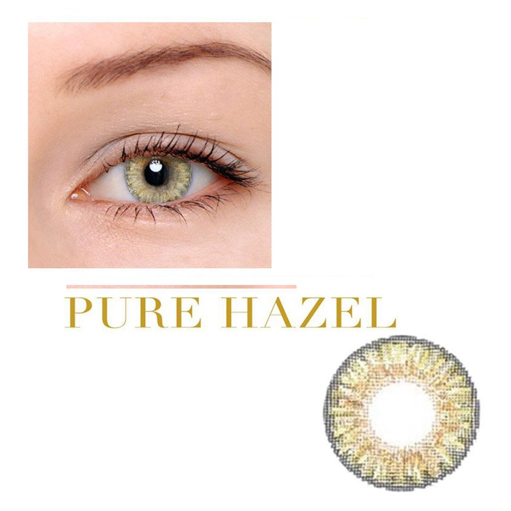 Women Multi-Color Cute Charm and Attractive Fashion Contact Lenses Cosmetic Makeup Eye Shadow Pure Hazel 3 by Dream TM
