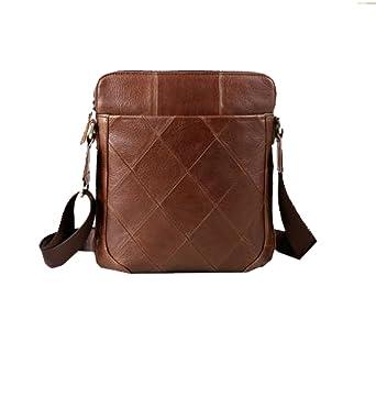 305ddadb27 Yy.f Men s Shoulder Bag Leather Leisure Vertical Section Of The Young Messenger  Bag Retro