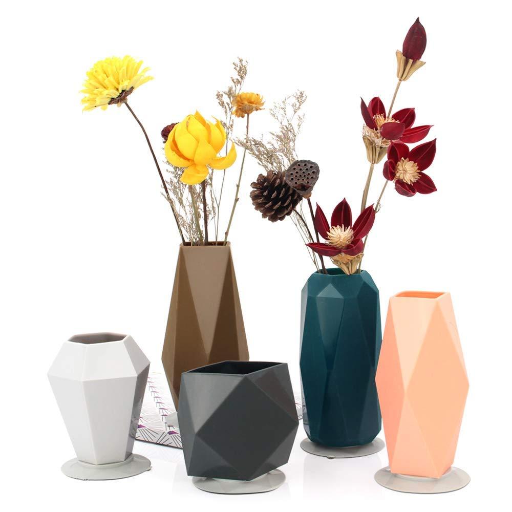 Unbreakable Flower Vases for Children Flower Arrangement, Small Flower Vase for Living Room, Centerpiece, Table, Home, Wedding and Office, Set of 5