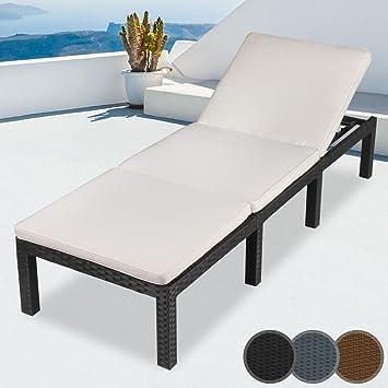 Haute qualité en polyrotin Chaise longue | 195 x 65 x 22 cm ... on chaise recliner chair, chaise sofa sleeper, chaise furniture,