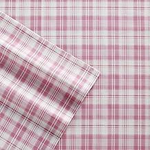 Poppy & Fritz Plaid Cotton Sheet Set, Queen, Pink