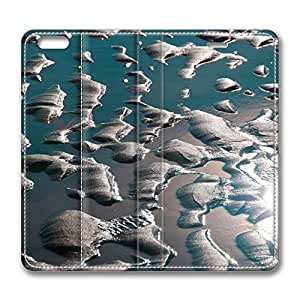 iPhone 6 Leather Case, Personalized Protective Flip Case Cover Earth Ocean Sky Fire for New iPhone 6