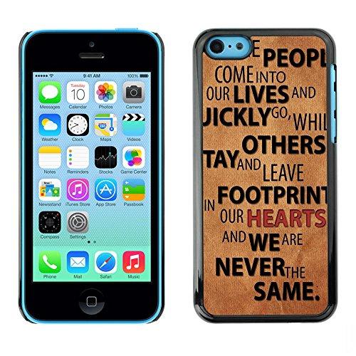 Qstar Art & Design plastique dur Coque de protection rigide pour Cas Case pour Apple iPhone 5C ( Relationships People Quote Love Life Change)