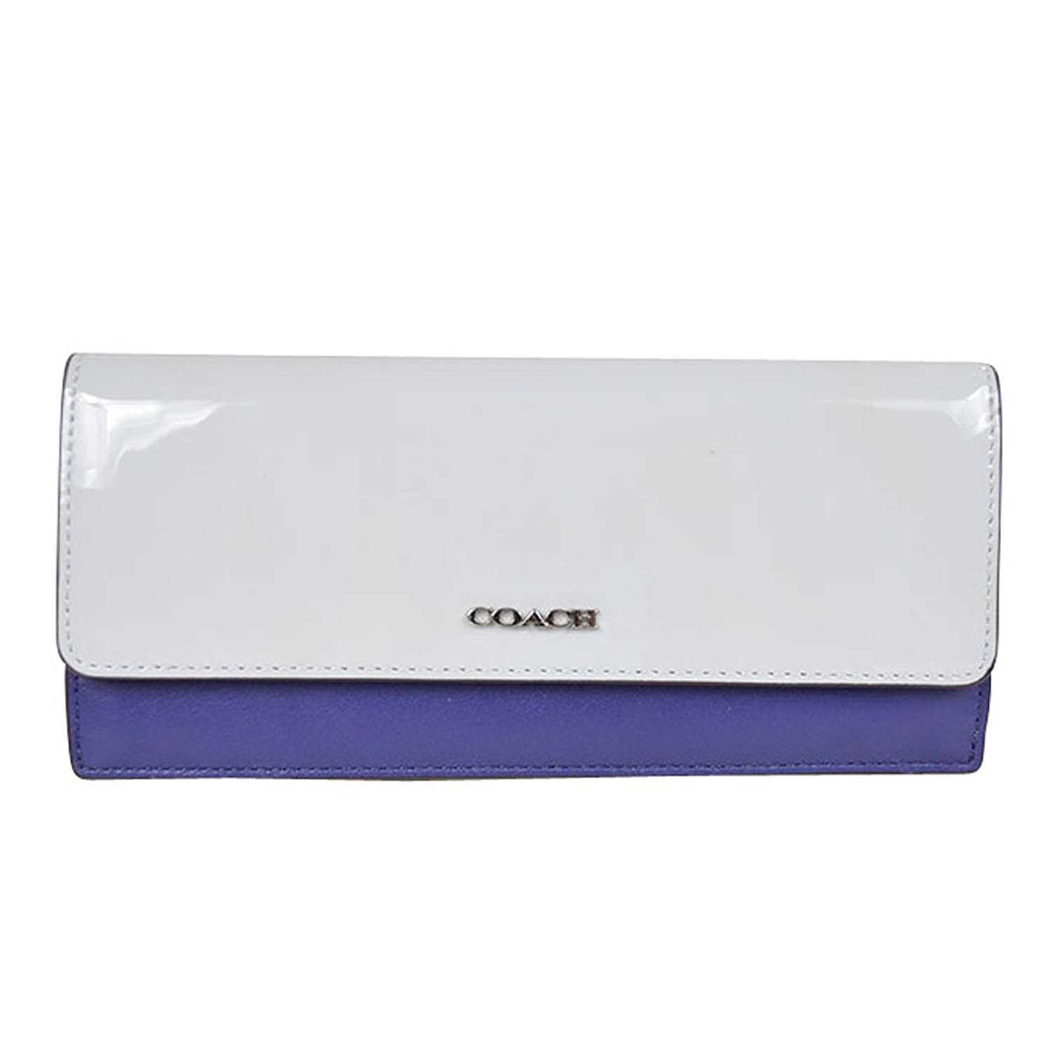 041d0f119f34 ... buy coach 51475 soft wallet in colorbock mixed leather in silver blue  handbags amazon ae855 883d2
