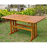 International Caravan TT RE 07 STN IC Furniture Piece Acacia Rectangular Dining  Table