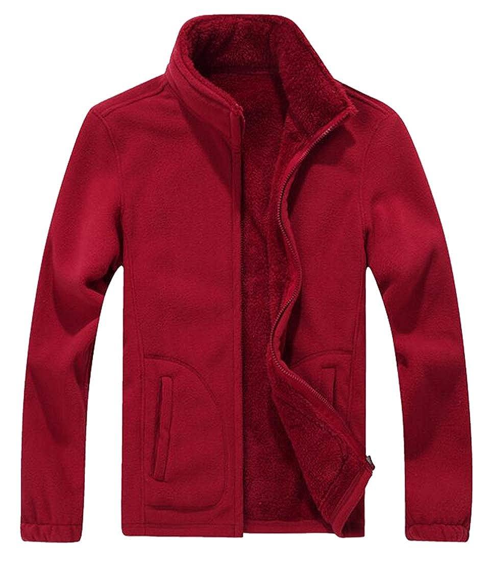 xiaohuoban Mens Fashion Plus Size Fleece Thicken Warm Cotton Short Jacket