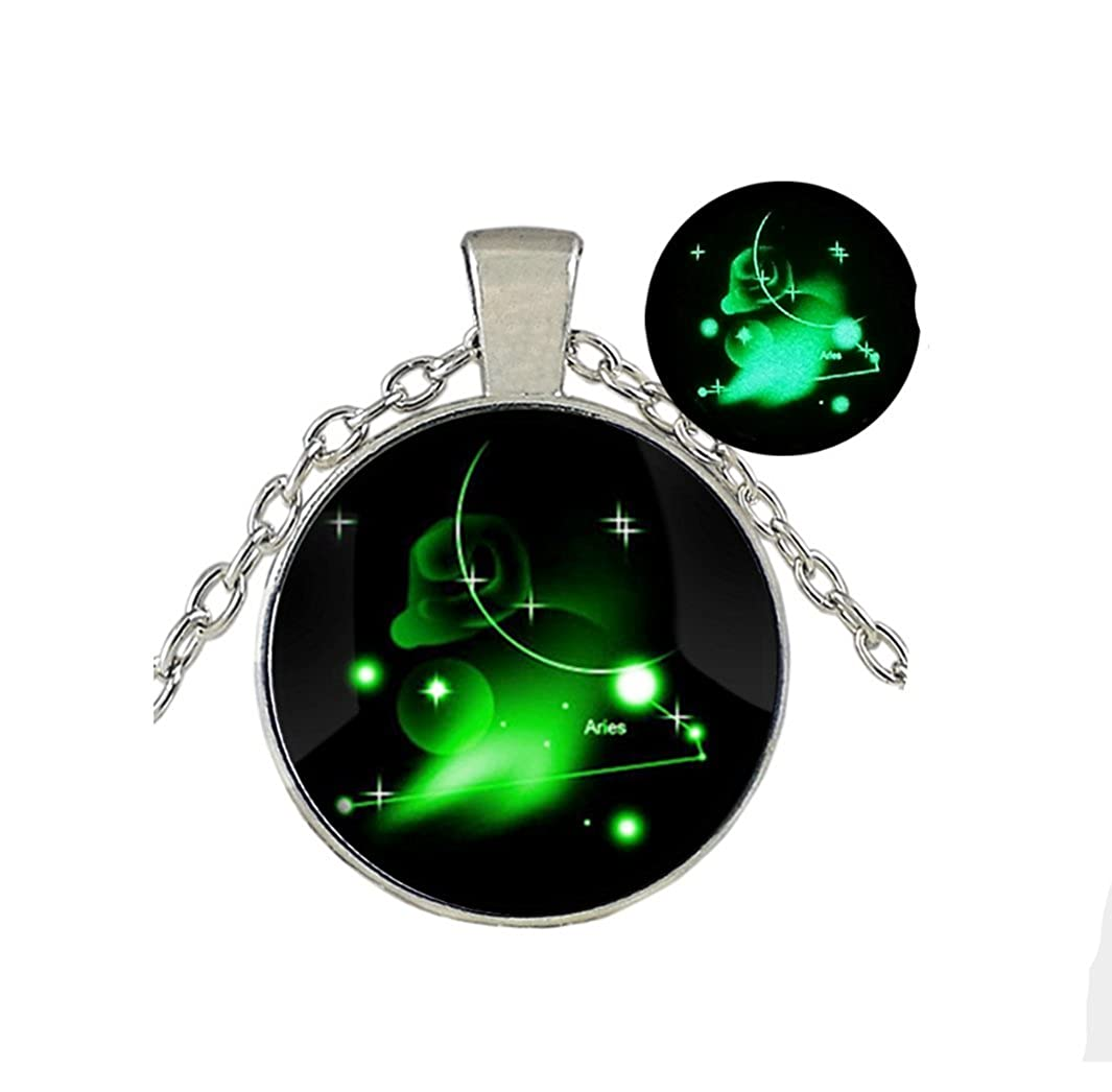 今季一番 Glow in Glow the Dark Constellation/グローネックレス Jewely/ Glowing Jewely/ Constellation Ariesジュエリー B077QFB5G5, 徳島市:9da34be4 --- a0267596.xsph.ru