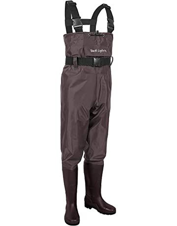 c7c40ef4658 Dark Lightning Fishing Wader for Men and Women with Boots, Mens/Womens High  Chest