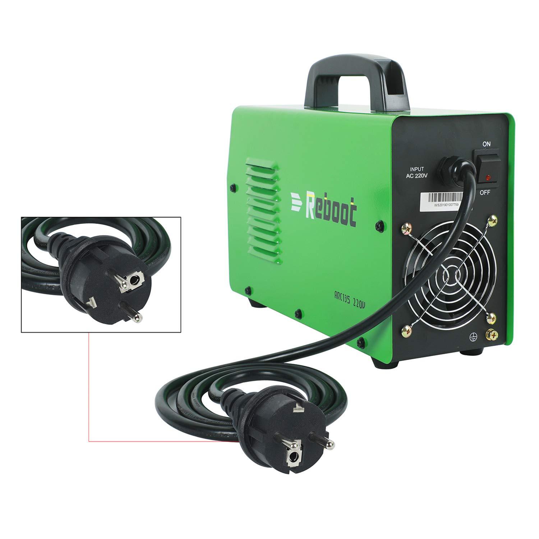 REBOOT SOLDADOR DE ARCO ARC135 DC 110V / 220V MMA Inversor Dual Voltios Stick Máquina de soldadura Mini portátil 1/16~1/8 pulg: Amazon.es: Bricolaje y ...