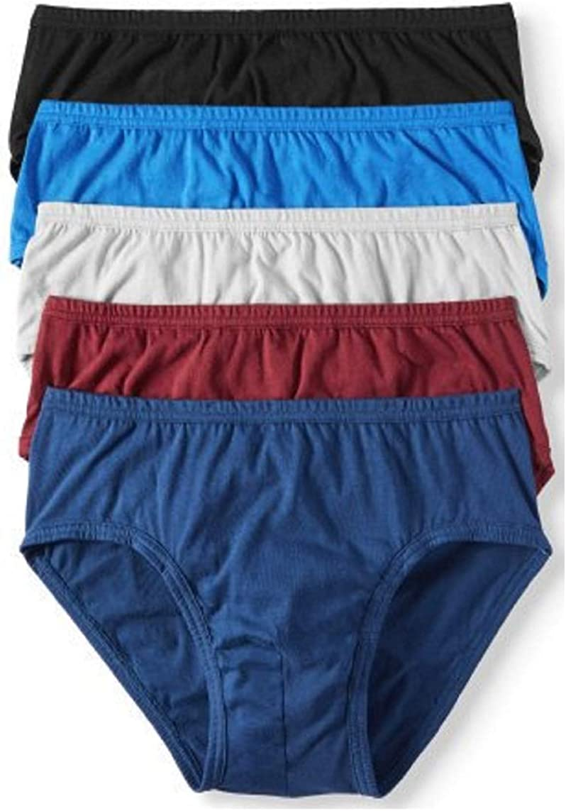 Jockey Life 5-Pack Men's 24/7 Comfort Cotton Low-Rise Briefs - Assorted