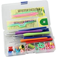Electomania® Knitting Crochet Hook Tools Accessories Supplies with Case Knit Kit(Multicolor)