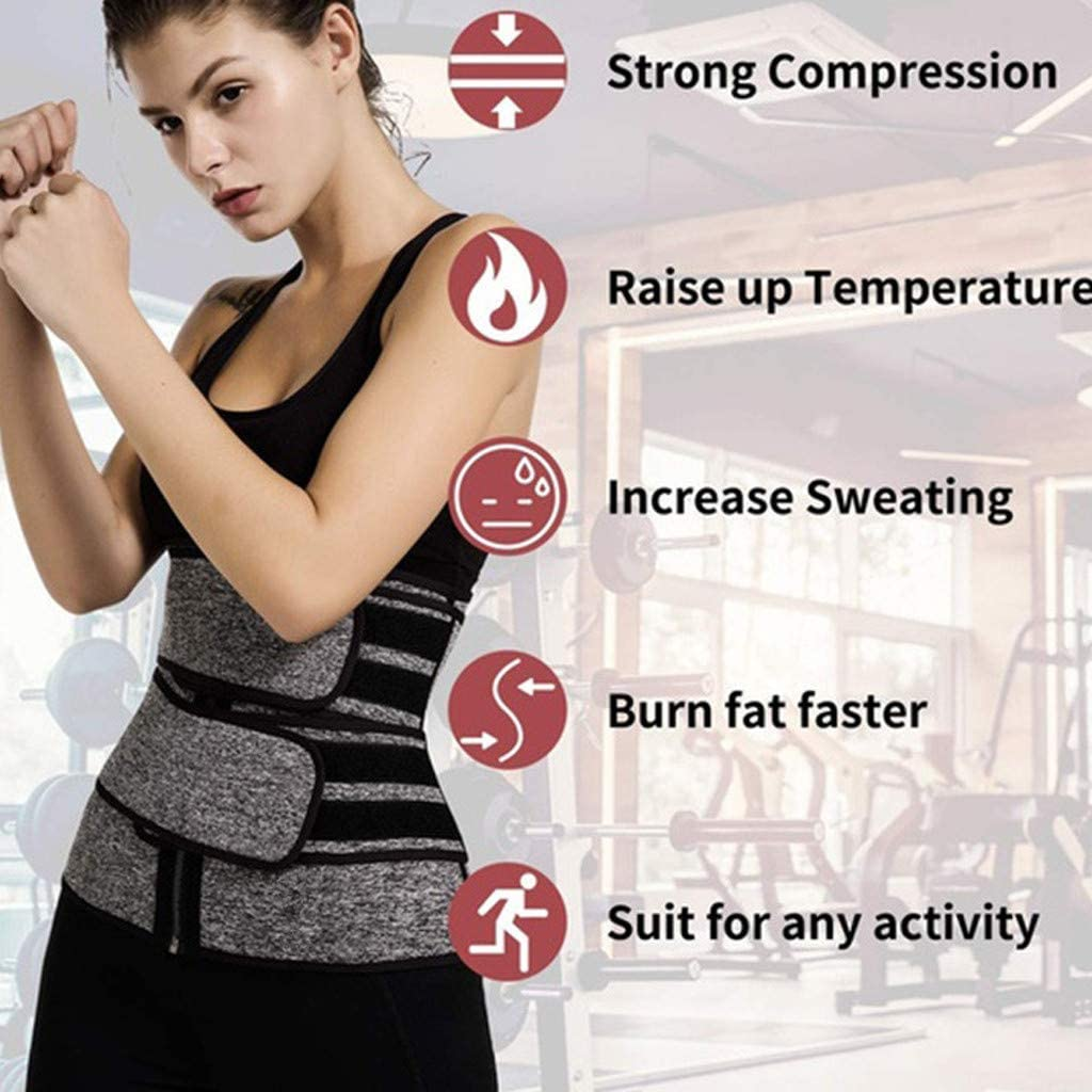 SADUORHAPPY Womens Shaper Waist Trainer Weight Loss Corset Trimmer Belt Waist Cincher Sports Girdle Corset