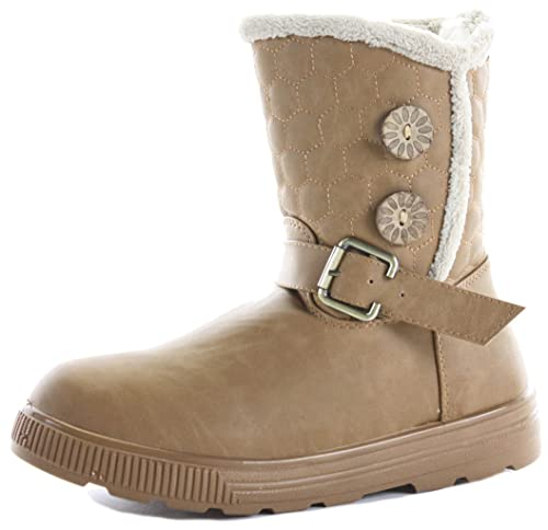 680d3f920a8e6 ShoeFashionista Style 9 Tan Size 5 - Womens Military Style Brown Lace Up  Ladies Army Worker