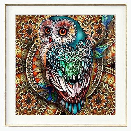 Full Drill Diamond Painting Kit Like Cross Stitch Lovely Owl Baby Bird ZB039C