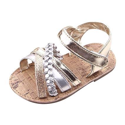 e63ffc3cd1b0a Amazon.com: Cloudro Baby Roma Sandals Infant Girl Soft Anti-Slip ...