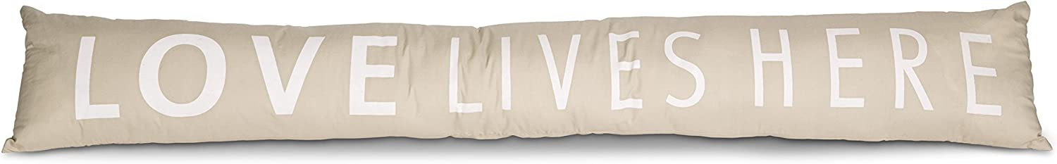 """Pavilion Gift Company 72188 Love Lives Here Draft Stopper, 36-1/2 x 6"""""""