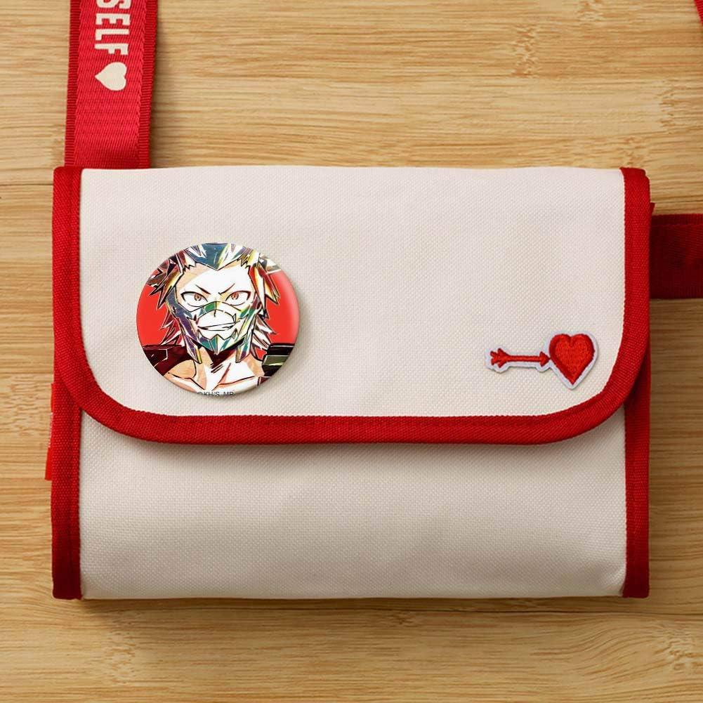 Demon Slayer Badges en Fer-Blanc Anime Brooch Pins Set Bag Clothing Decoration My Hero Academia Lecheng Badges Japonais Anime Figures Danganronpa 7 Pcs//Ensemble Demon Slayer-A