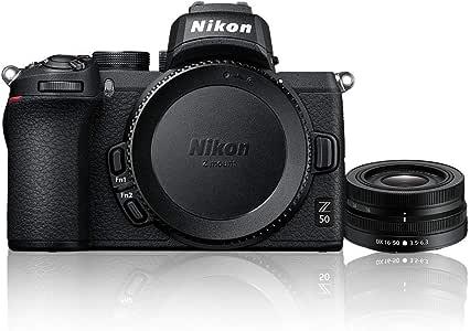 Nikon Z 50 + NIKKOR DX 16-50mm f/3.5-6.3 VR Single Lens Kit, Black