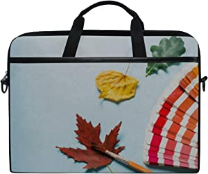 Laptop Bag Pantone Book Creative Layout Colorful Autumn 15-15.4 Inch Laptop Case, Briefcase Messenger Shoulder Bag for Men Women, College Students Bu