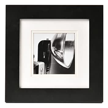 carr square black gallery frame with white double mat for a 5 inch by 5 - White Frame With Mat