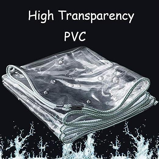 FANg Cubierta Impermeable Transparente - Lona Transparente a Prueba de Polvo Impermeable Cortina Impermeable pérgola Cubierta del Coche Espesado PVC -Lona alquitranada (Size : 1.2X2M): Amazon.es: Hogar