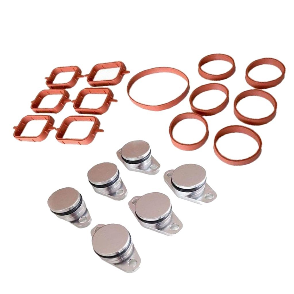 Amazon com: Homyl Intake Manifold Gaskets Swirl Flap Replacement Set