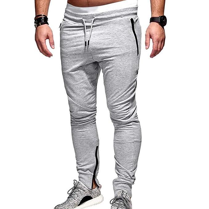 Msliy Pantalones Deportivos para Hombres 4477fe8d181d