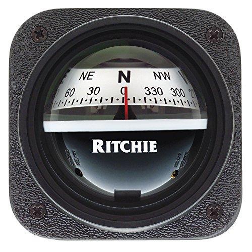 Explorer Bulkhead (Ritchie V-537W Explorer Bulkhead Mt Compass Wht Dial)