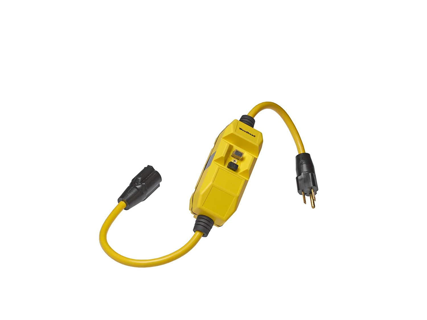 15A Current Commercial Duty 120V Voltage 14//3 SJTW Cord Type 2ft Cord Length Molex Woodhead 15050-1 Safeway GFCI Molded Plug and Connector NEMA 5-15 Configuration 1 Receptacles