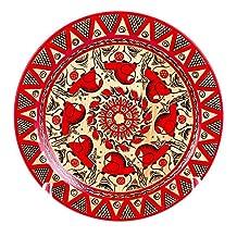 Mezen Painting Wooden Decorative Plate, 8-Inch