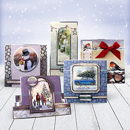 Hunkydory Crafts 2017 White Christmas Luxury Topper Collection Christmas Card Kit