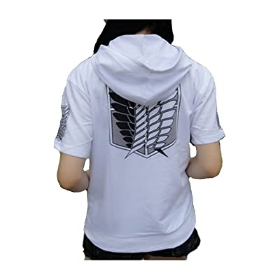 Attack on Titan Shingeki Kyojin Cosplay Hoodie Short Sleeves Sweater: Clothing