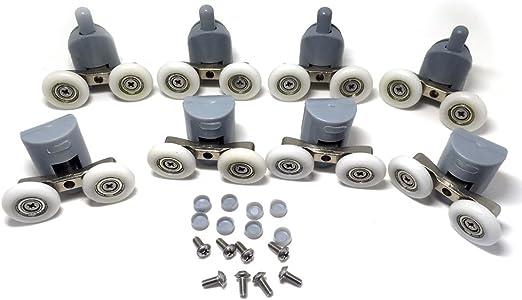 Rodamientos dobles para mamparas de ducha, 25 mm de diámetro ...