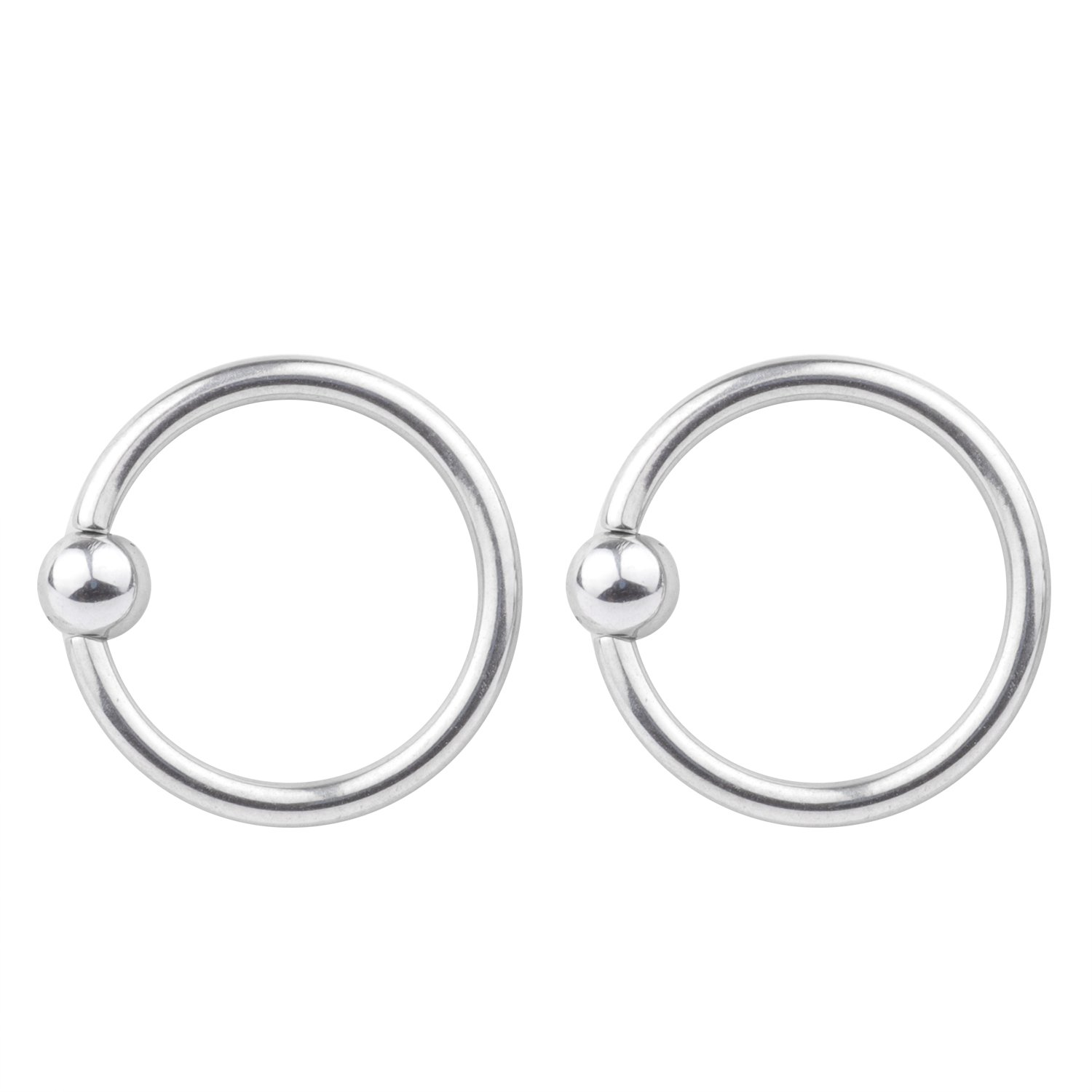 16G Unisex Surgical Stainless LipNoseNippleEyebrown Captive Hoop Ring Barbell Tragus Cartilage Stud Earrings 3mm Ball 6mm 2-4pcs