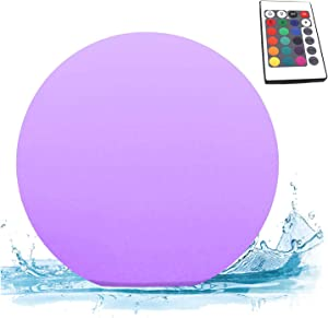 Gift for Kids Men Women Pool Floating Lights LED Light Color Changing Ball 8 inch Rechargeable 2600mAH Night Mood Light for Wedding, Bedroom, Living Room Garden, Pool, Bar Decor.