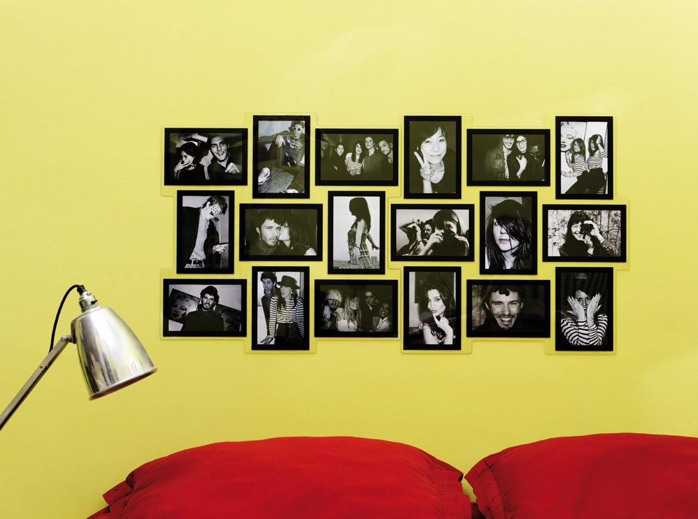 2 Bilderrahmen Collage – quadratisch – 18 Fotos, schwarz, 46 x 46 cm ...